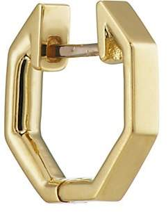 Finn Women's Yellow Gold Octagonal Huggie Hoop
