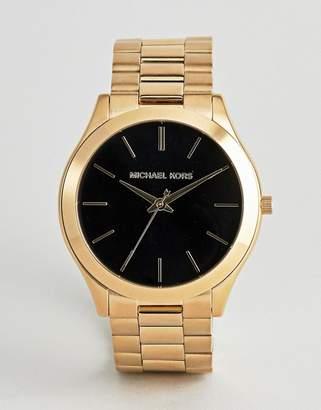 Michael Kors MK8621 Runway Bracelet Watch in Gold