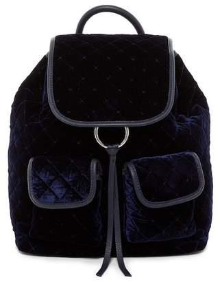 Vince Camuto Glenn Diamond Quilted Velvet Backpack
