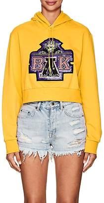 Balmain for Beyoncé Women's Embellished Cotton Terry Crop Hoodie