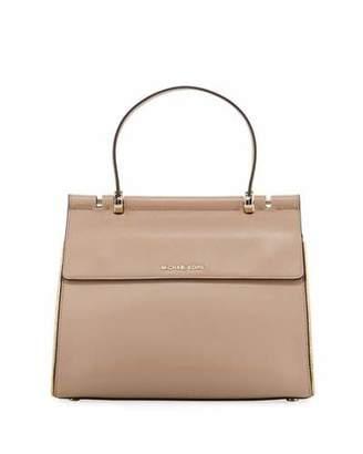 MICHAEL Michael Kors Jasmine Medium Leather Satchel Bag