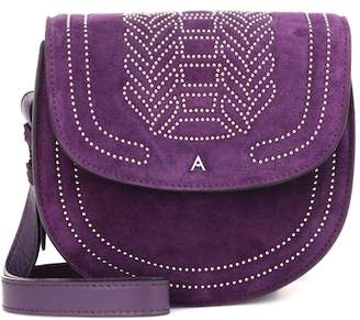 Altuzarra Ghianda Saddle suede shoulder bagd