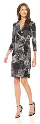 Anne Klein Women's 34 SLV Side Drape Dress