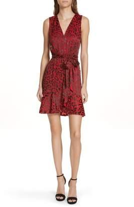 Alice + Olivia Brooks Animal Print Fit & Flare Dress