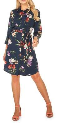 Dorothy Perkins Floral Three-Quarter Sleeve Shirtdress