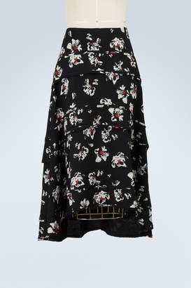 Proenza Schouler Tiered printed skirt