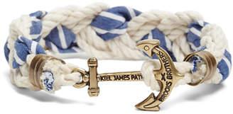 Brooks Brothers Kiel James Patrick Seersucker Stripe Braided Bracelet