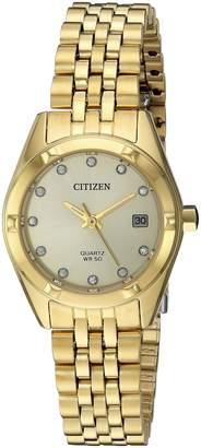 Citizen Women's EU6052-53P New Quartz Mother of Pearl Dial Wrist Watch