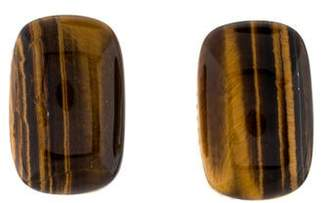 Roberto Coin 18K Tiger's Eye & Diamond Earclips