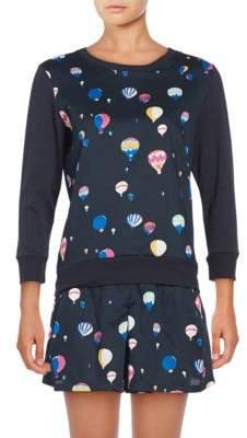 Kate Spade Printed Sateen Pajama Set