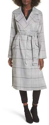 J.o.a. Plaid Trench Coat
