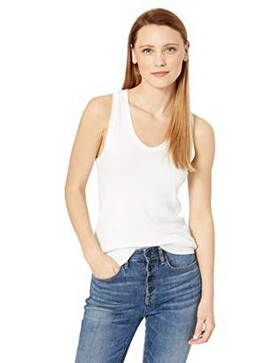 Majestic Filatures Women's Deluxe Cotton Rib Scoop Neck Tank