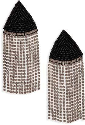 Area Stars Laurent Crystal Fringe Earrings