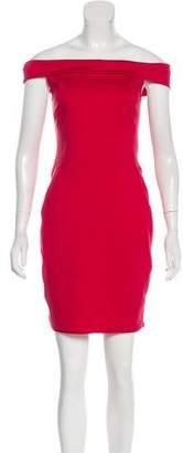 Halston Tonal Mini Dress
