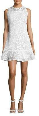 MICHAEL Michael Kors Flower Mesh Fit-&-Flare Mini Dress