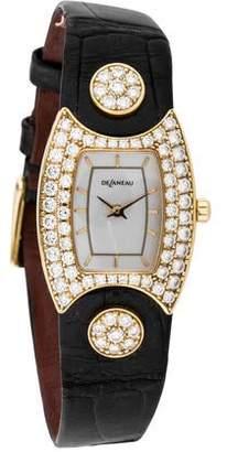 DeLaneau 18K First Lady Diamond Watch