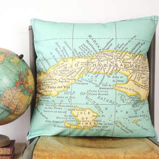 Live bird cushion shopstyle uk at notonthehighstreet girl and bird personalised world destination map cushion gumiabroncs Images
