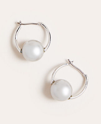 Ann Taylor Pearlized Drop Earrings