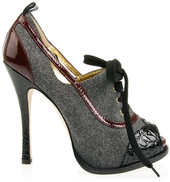 DSquared DSQUARED2 - Tweed and patent heels