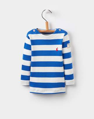 Joules Clothing Ocean Blue Stripe Harbour Jersey Top