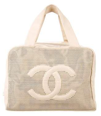 Chanel Perforated Caviar Leather Bowler Bag