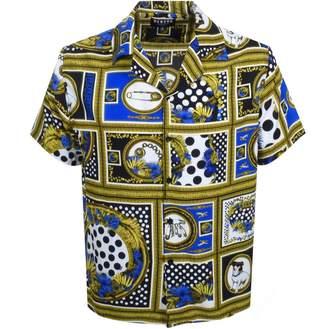 Versace Short Sleeved Shirt Blue