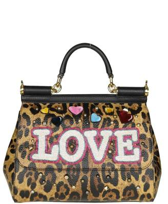 Dolce & Gabbana Hand Bag Sicily With Patch Love