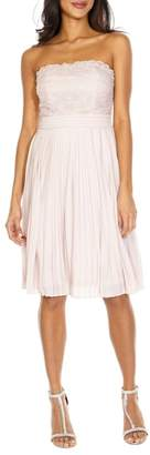 TFNC Kara Pleated Strapless Dress
