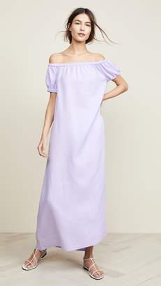 JENNY PARK Serenity Off Shoulder Maxi Dress
