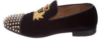 Christian Louboutin Harvanana Velvet Loafers