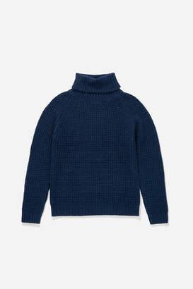 Saturdays NYC Lafayette Waffle Knit Sweater