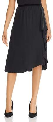 Go Silk Go by Cascade Ruffle Silk Skirt