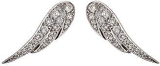 Anita Ko Jewelry 18kt White Gold Wing Earrings with Diamonds