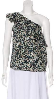 Etoile Isabel Marant Linen One-Shoulder Top w/ Tags