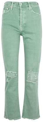 Mother Tomcat Cropped Distressed Jeans