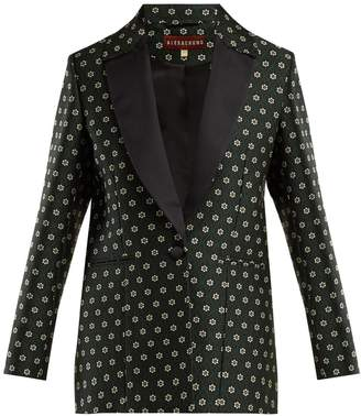 ALEXACHUNG Single-breasted floral-jacquard blazer