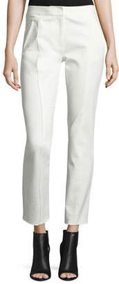 Tory Burch Vanner Slim Ankle Pants, New Ivory