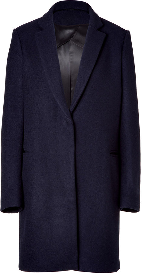 Maje Navy wool coat