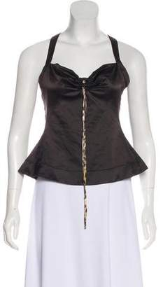Just Cavalli Satin Sleeveless Top