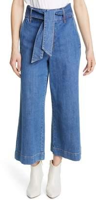 Joie Marylu Wide Leg Crop Jeans