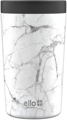 Ello Jones 11-Oz. Stainless Steel Coffee Tumbler, White Marble