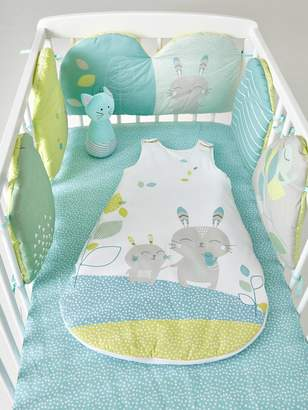 Vertbaudet Adaptable Cot Bumper, Northern Dream Theme