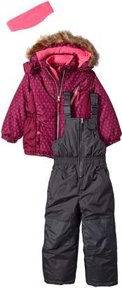 Pink Platinum Little Girls' Geo Printed Super Snowsuit