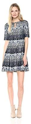 Julian Taylor Women's Elbow Sleeved Key Hole Dress