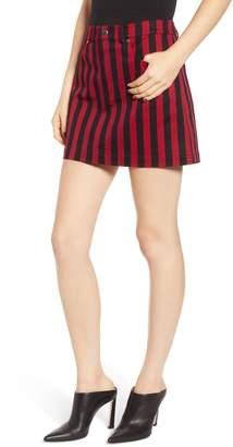 Rebecca Minkoff Aubrey Stripe Denim Miniskirt
