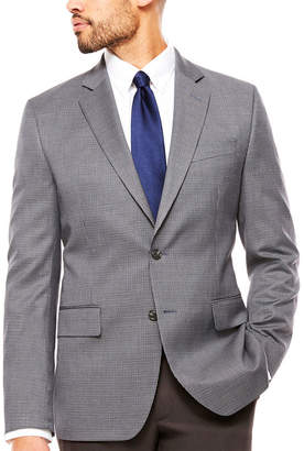 STAFFORD Stafford Stretch Year Round Gray Navy Houndstooth Sport Coat