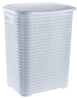 "American Dream Home Goods Storage Solutions Knit 22"" Tall Laundry Hamper Basket and Storage Bin, 20 Gallon, White"