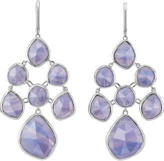 Monica Vinader Siren chandelier sterling silver and blue lace agate earrings