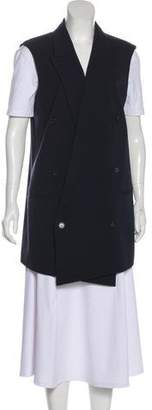 Michael Kors Virgin Wool Peak-Lapel Vest