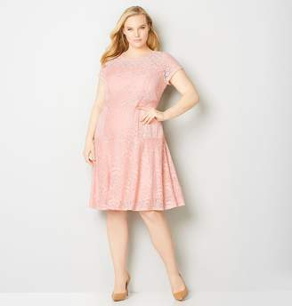 Avenue Multi Lace Fit and Flare Dress